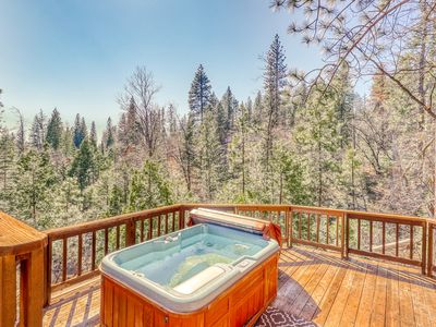 Photo for Serene forest setting on half an acre w/ private hot tub - dogs welcome!
