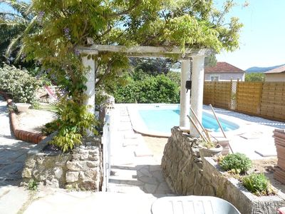Photo for T3 Bottom of villa with semi private swimming pool (in July)