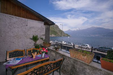 Private terrace with lake view