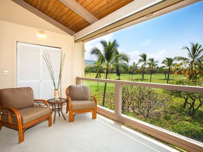Photo for Condo walking distance to beach with WiFi, private lanai,  partial ocean view- perfect for families