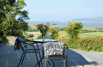 Enjoy the coastal views from the patio