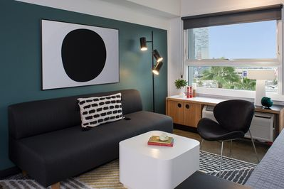 Living Room  (Actual apartment is similarly furnished and styled)