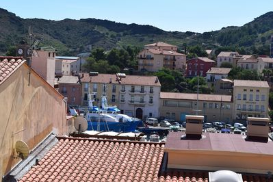 View from our balcony - the port and surrounding hills
