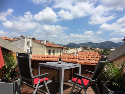 Photo for Quiet apartment for two with roof terrace