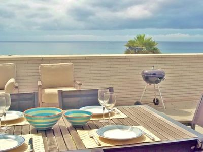 Photo for Holiday home with sea views and garage close to the beach of Sant Pol de Mar, Barcelona - CM224
