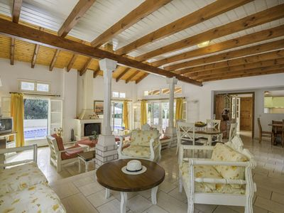 Photo for Spacious, private, three-bedroom villa with a large pool and extensive grounds