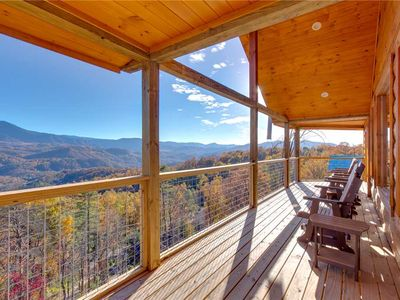 Photo for Great Smoky Lodge, 7 BR, New Construction, Pets, WiFi, Hot Tub, Sleeps 20