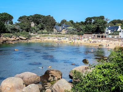 Photo for Apartment with terrace at 100m beach St-Guirec in PLOUMANAC'H