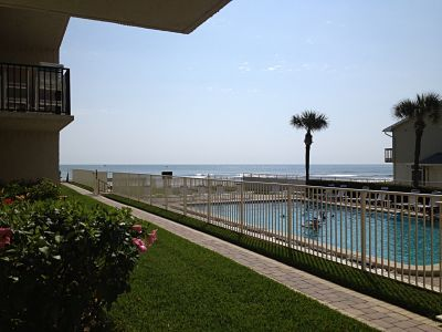Pool, oceanview from patio deck
