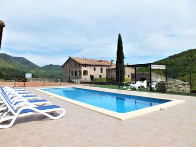 Photo for Rural Tourism in the Pyrenees of Girona, with pool and barbecue for 22 people