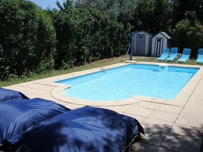 Photo for Apartment in a vineyard house with pool, 2 bedrooms, 4 people