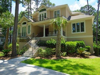 Spectacular home is located on Golf Course in Palmetto Dunes.