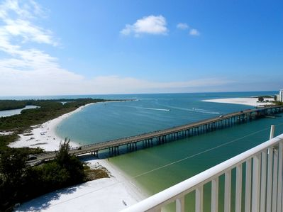 Our balcony view of the Gulf