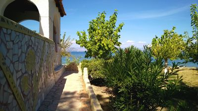 Photo for Nice sea view Apartm.s on the beach in Corfu  - Newly refurbished