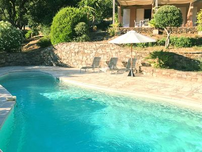 Photo for Stylish villa with three suites and private pool near Grimaud and Saint Tropez