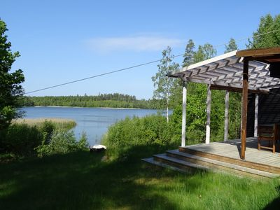 Photo for Holiday home with private jetty on large lake property