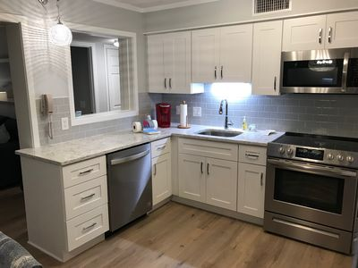 New Shaker white cabinets