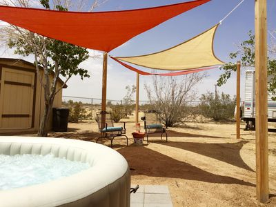 Photo for Sahara Madre - Bohemian Desert Chic - Secluded, WiFi, BBQ, VIEWS!!