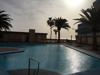 Photo for HOLIDAYS, TENERIFE, CANARY ISLANDS, NEW FLAT 2 SEA WATER POOLS AT THE BEACH