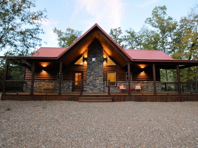 Photo for 2 Master Suites W/king Beds.  Perfect For 2 Couples Wanting A Luxury Cabin