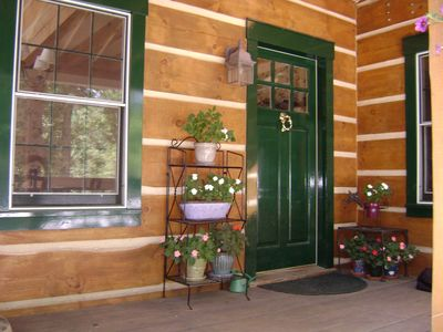 Side porch entrance---welcome home!