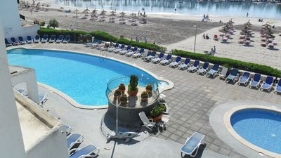 Photo for Sea Front Apt. With Sea / Pool / Views. Sleeps 4 A/C