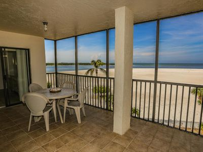 Photo for 2/2 beachfront condo at south end of island