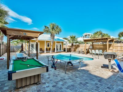 """Photo for """"SeaWatch"""" Entertainment Oasis, Gulf Views, Private pool, Beach steps away"""