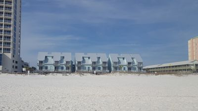 The Ocean Reef complex as seen from the Gulf - Our unit is not beachfront!