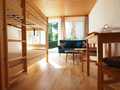 Photo for 1-room apartment with garden terrace (2 pers.+ Dog) Schwarzwaldcard & ski pass for free
