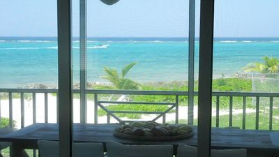 Photo for Upscale Retreat 21, Beachfront Executive Condo, Rum Point
