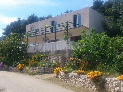 Photo for One bedroom apartment with balcony and sea view Cove Saplunara (Mljet)