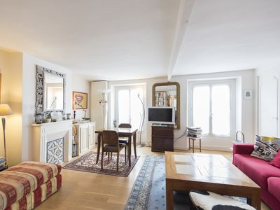 Photo for Reach the Montmarte area in 2 mins via Metro! Bright 3 bed for 5 guests (Veeve)