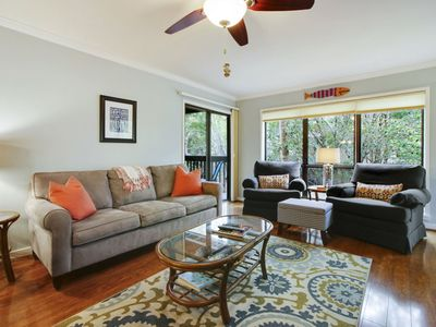Photo for he Moorings complex offers maximum privacy for each of the 2 bedrooms and 3-baths in this raised 1st