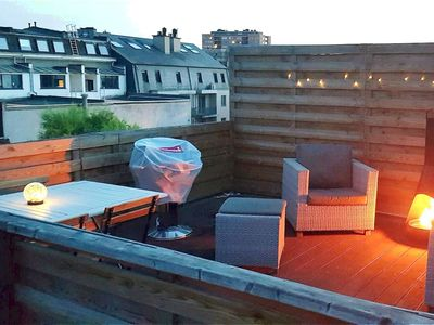 Photo for Trendy apartment with rooftop terrace