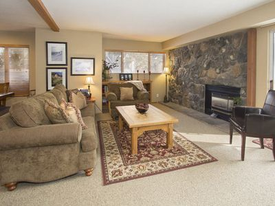Photo for Cozy mountain condo, short walk to shuttle- WiFi/DVD/Bose sound system