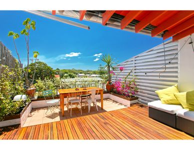 Photo for Beachside vibes in airy rooftop apartment