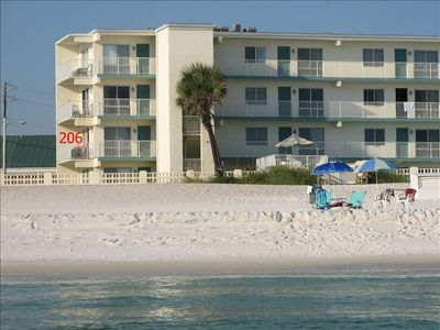 206 - Great location - easy access to the beach - more privacy with an end unit.