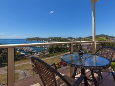Photo for A top floor unit with panoramic views over the marina (and free wifi too)