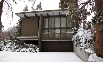 Photo for Mid Century Modern Cabin Minutes from Slopes and Lake