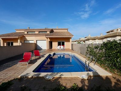 Photo for 4 bedroom Villa, sleeps 8 in Riumar with Pool, Air Con and WiFi