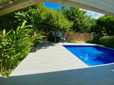 Three bedrooms villa with swimming pool and beach