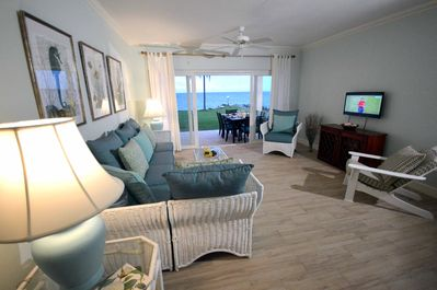 Your Room with a View of the blue Caribbean Sea.  Coast Contemporary decor..