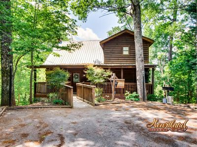 """Photo for Enjoy the beauty of the Smoky Mountains in the """"Top of the World"""" Log Home"""