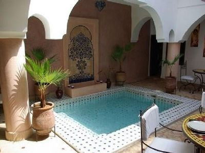 Photo for Riad Ailen, a true Riad located in the Medina of Marrakech with pool patio