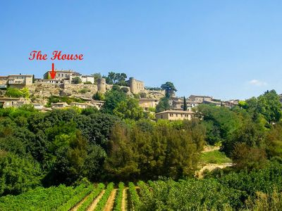 Photo for Highest house in Menerbes, stunning views of Luberon from every room