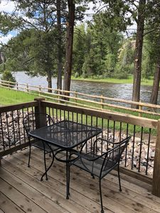 Photo for Rustic Cabin is a beautiful new cabin, right on Rock Creek!