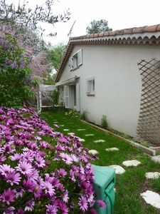 Photo for Rental villa 8p sea view large private pool in villeneuve loubet (06)