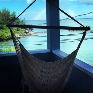 Picture yourself sitting in this hammock overlooking Tobacco Bay!