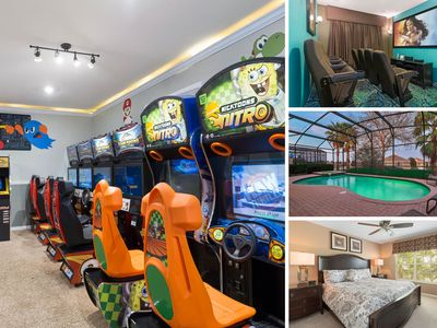 Photo for MVH_099M | 3 Bed Villa with Arcade Game Room, Theater, Private Pool & Spa, Luxury Furnishings